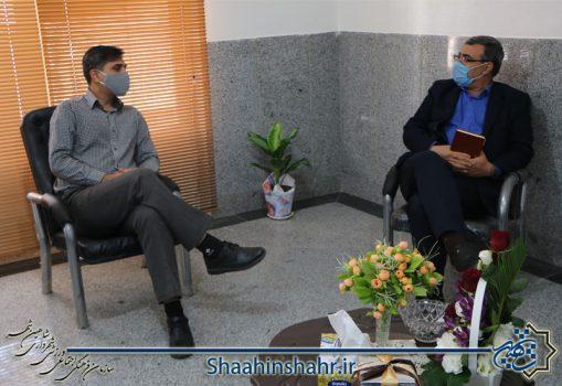 دیدار رئیس سازمان فرهنگی اجتماعی ورزشی با رئیس جدید اداره بهزیستی شهرستان
