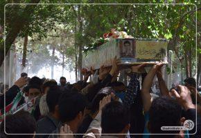 گزارش تصویری از مراسم وداع و تشییع شهید مجید جزایری
