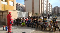 آموزش اصول ایمنی و آتش نشانی محله مهر در ایستگاه سوم
