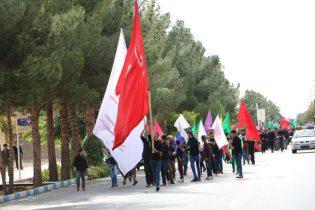 ببینید گزارش تصویری پیاده روی اربعین حسینی در شاهین شهر