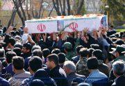وداع پرشور با شهید مدافع حریم امنیت در شاهین شهر